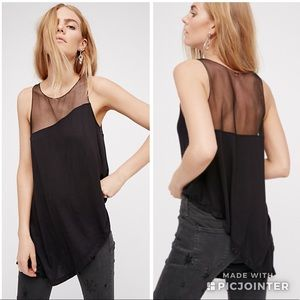 Free People Riley Mesh Top